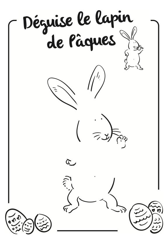 Lapin de Pâques à déguiser