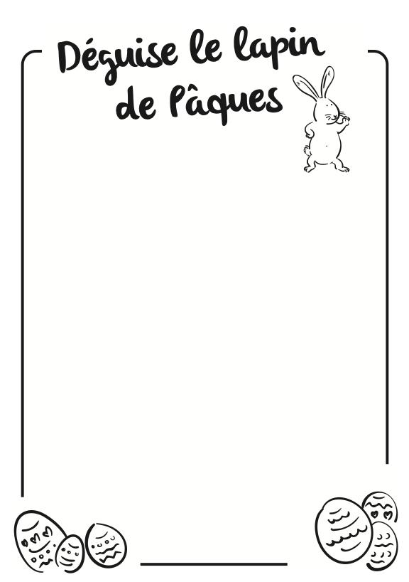 Lapin de Pâques à dessiner