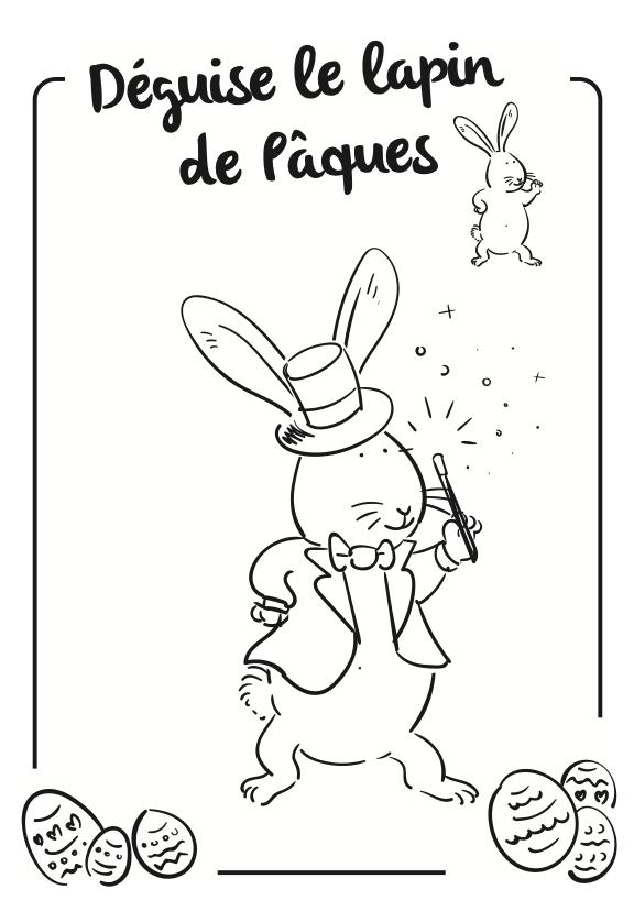 Lapin de Pâques magicien