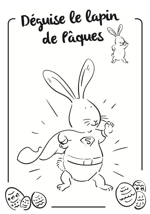 Lapin de Pâques superheros
